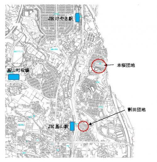町営住宅位置図